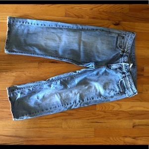 Silver crop Jeans light wash 30
